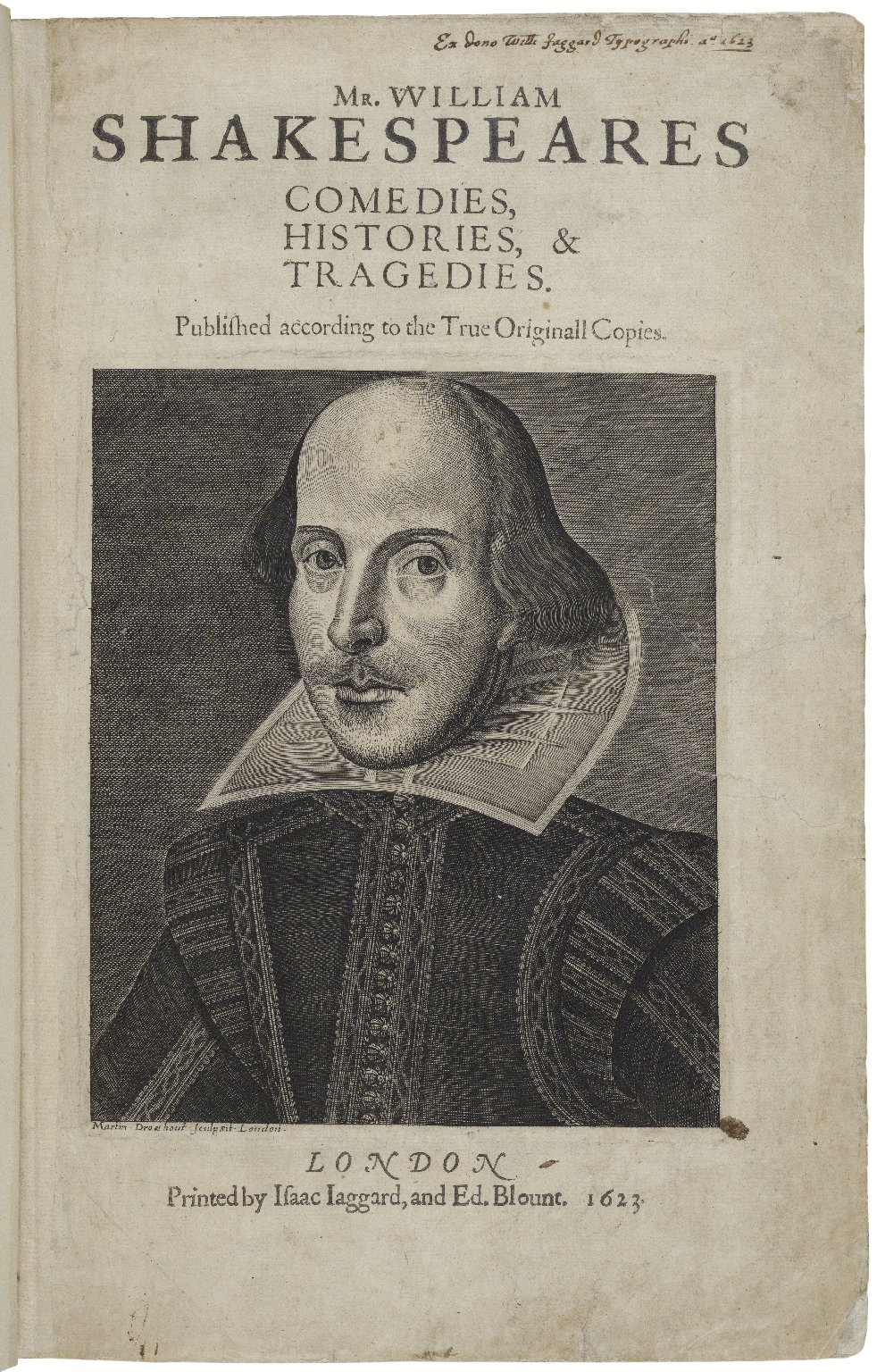 First Folio title page