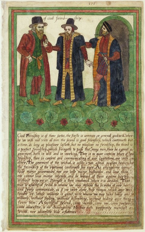 Of civil friendship from the Trevelyon Miscellany