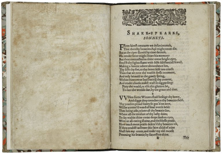The openings poems of Shakespeare's Sonnets