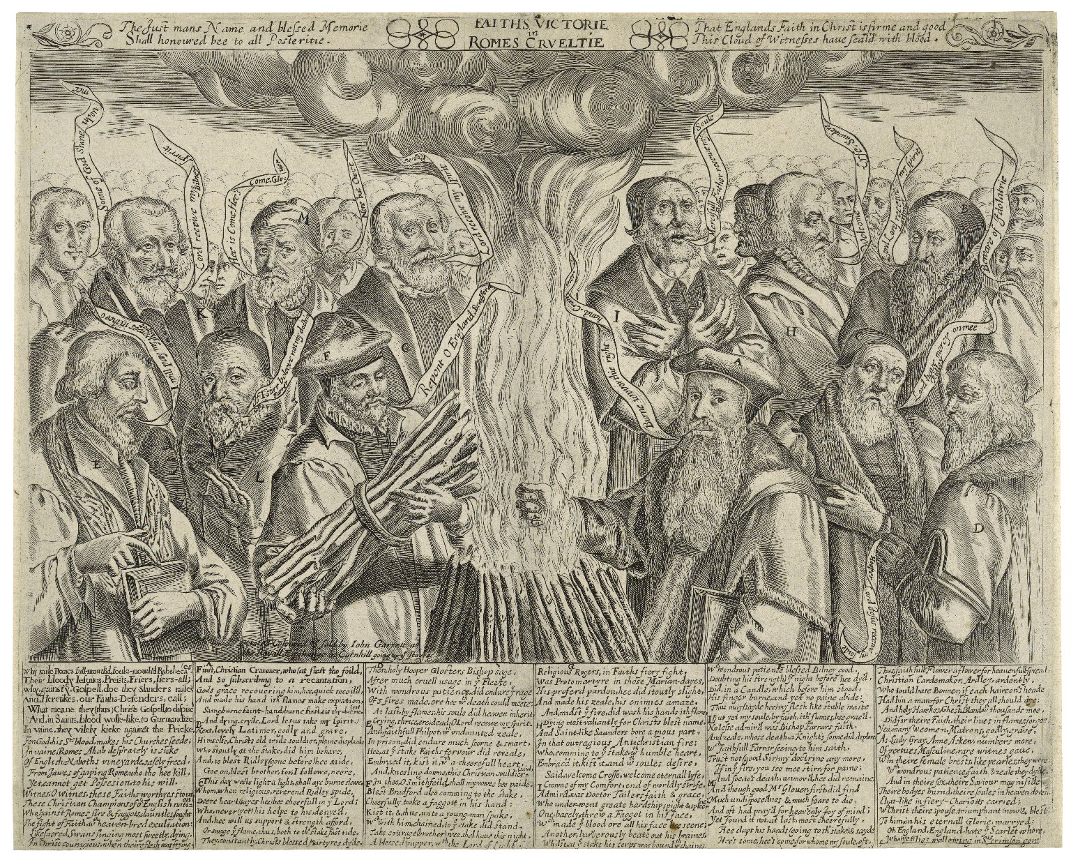 17th-century engraving of English Protestant martyrs