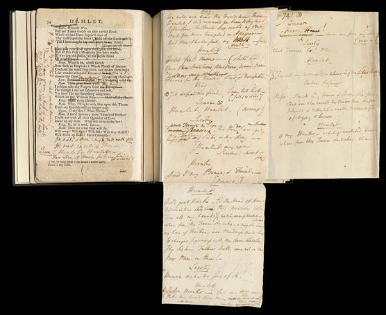 David Garrick promptbook for Hamlet