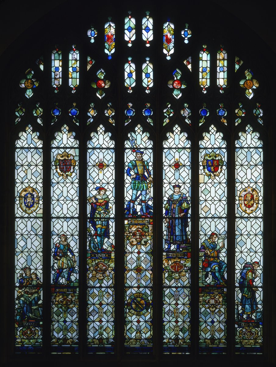 Seven Ages of Man stained glass window