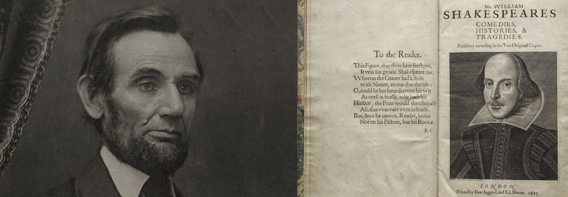 Abraham Lincoln and William Shakespeare