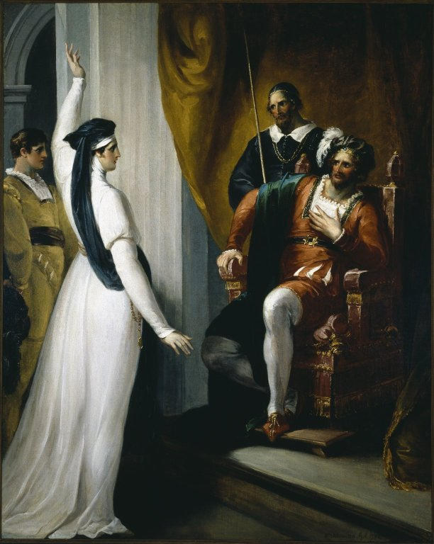 Isabella pleading to Angelo (Act 2, scene 2; 1793)