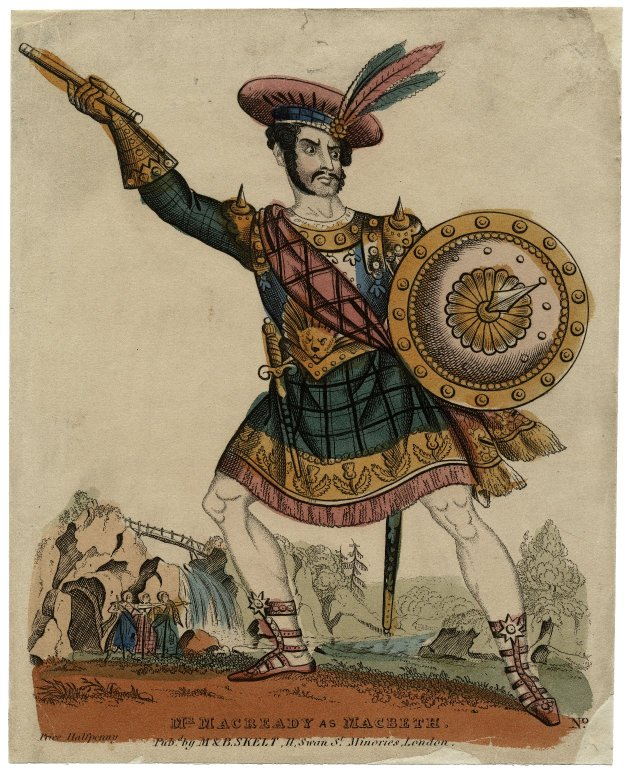 Charles Macready as Macbeth (mid 19th century)