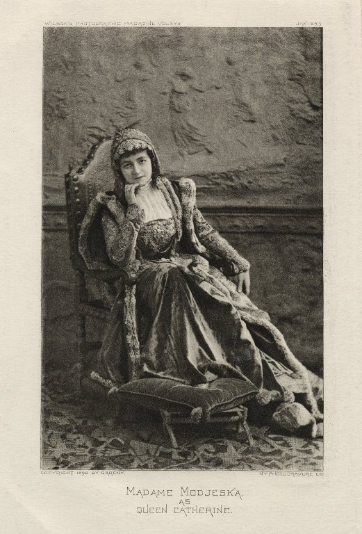 Helena Modjeska as Queen Katherine (1892)