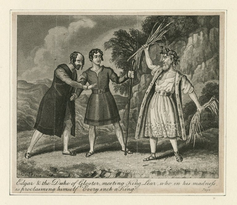 Edgar and Gloucester meet Lear (Act 4, scene 6; early 19th century)