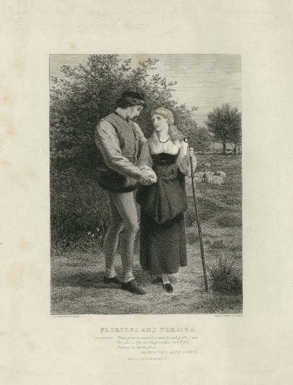 Florizel and Perdita (Act 4, scene 4; 19th century)