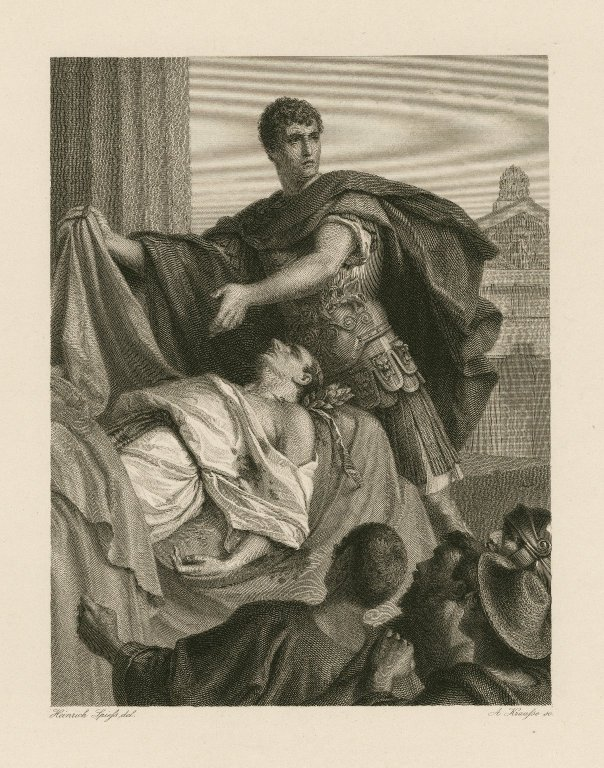 Antony with Caesar's body (Act 3, scene 2; mid- to late 19th century)