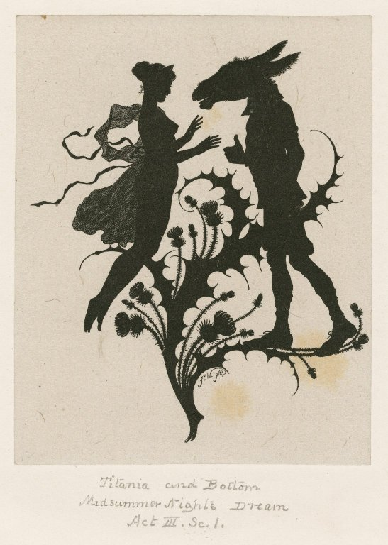 Titania and Bottom (Act 3, scene 1; 19th century)