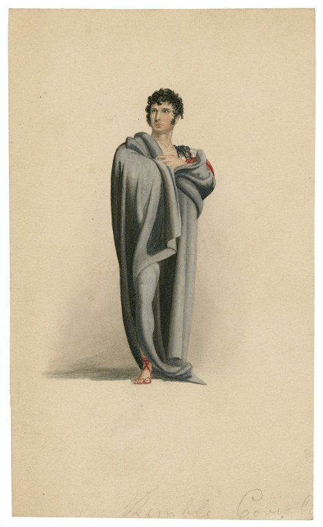 Drawing by George Perfect Harding of Charles Kemble as Coriolanus (late 18th to mid-19th century)