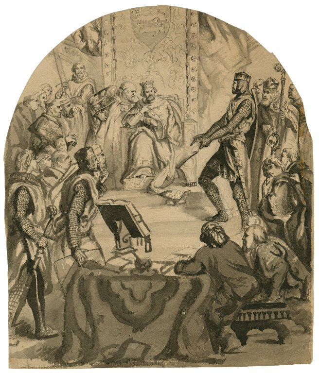 Thomas Nast drawing of King John (19th century)