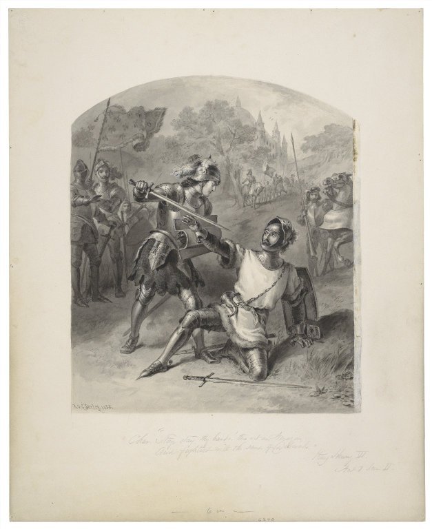 Joan on the battlefield (Act 1, scene 2; 1885)