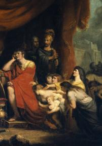 Painting by Richard Westall of Volumnia pleading with Coriolanus (Act 5, scene 3; c. 1800)